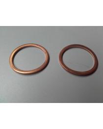 Koperen ring 10 mm 5 stuks