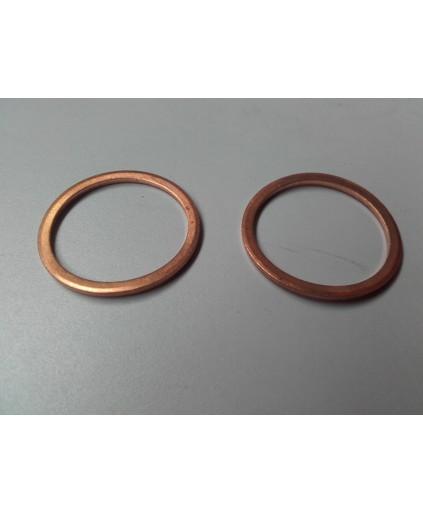 Koperen ring 28 mm 2 stuks