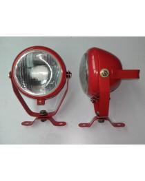 Werklamp rood 130mm (bol glas)