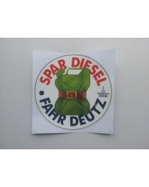 Deutz Sticker - Spar Diesel, Fahr Deutz