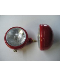 Koplamp Engels model Rood Links