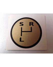 schakelschema S-L-R goud rond