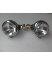 Hassia zijmontage boutlampen (chroom) ⌀ 105 mm