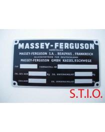 Massey Ferguson typeplaat