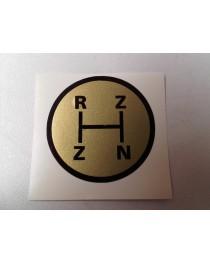 Schakelschema R-Z-Z-N goud rond