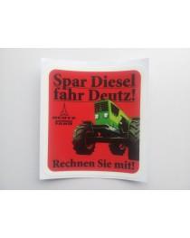 Brandstof sticker 06 DE