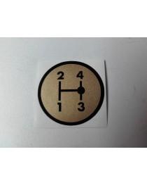 Schakelschema 2-1-4-3 goud rond