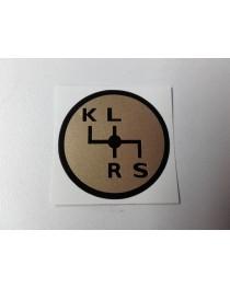 Schakelschema K-L-R-S goud rond