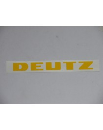 Deutz  motorkap sticker groot