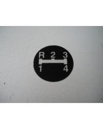 R-1-2-3-4 teken schakelknop MF