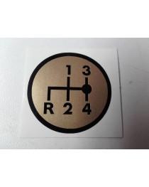 Schakelschema R-1-2-3-4 rond goud