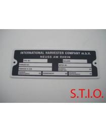 IHC 130x49mm typeplaat
