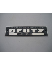 Deutz 135 x35mm typeplaat